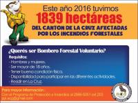Buscamos bomberos forestales voluntarios en La Cruz