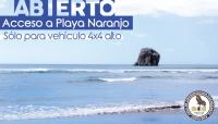 Abierto acceso a Playa Naranjo, Sector Santa Rosa